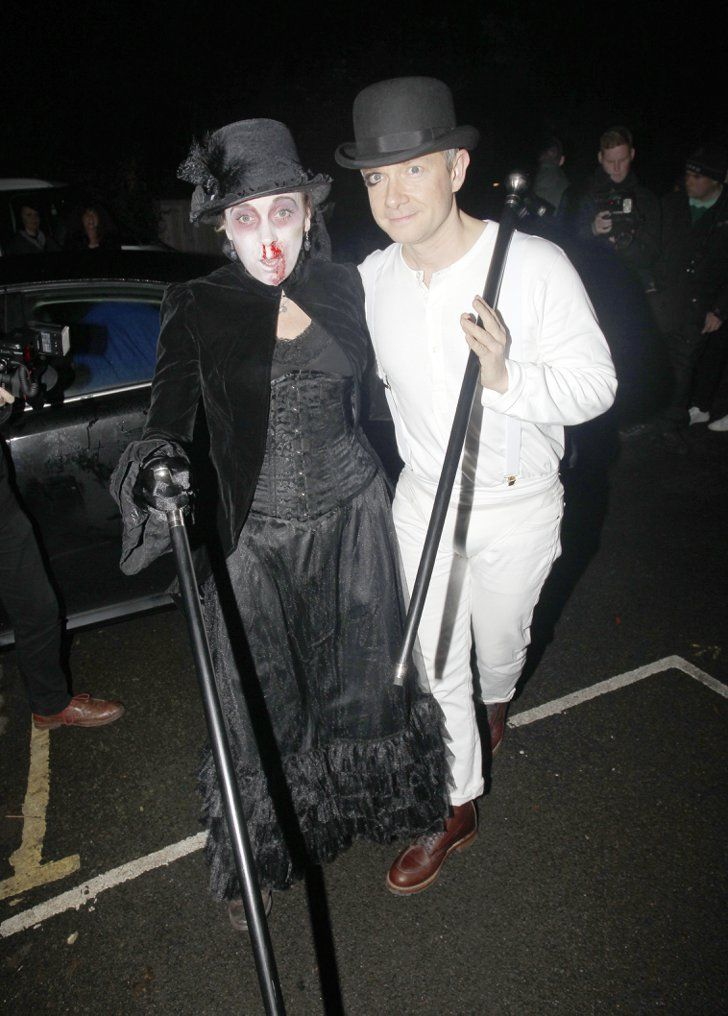 Pin for Later: This Is How Celebrities Celebrate Halloween in the UK Amanda Abbington and Martin Freeman
