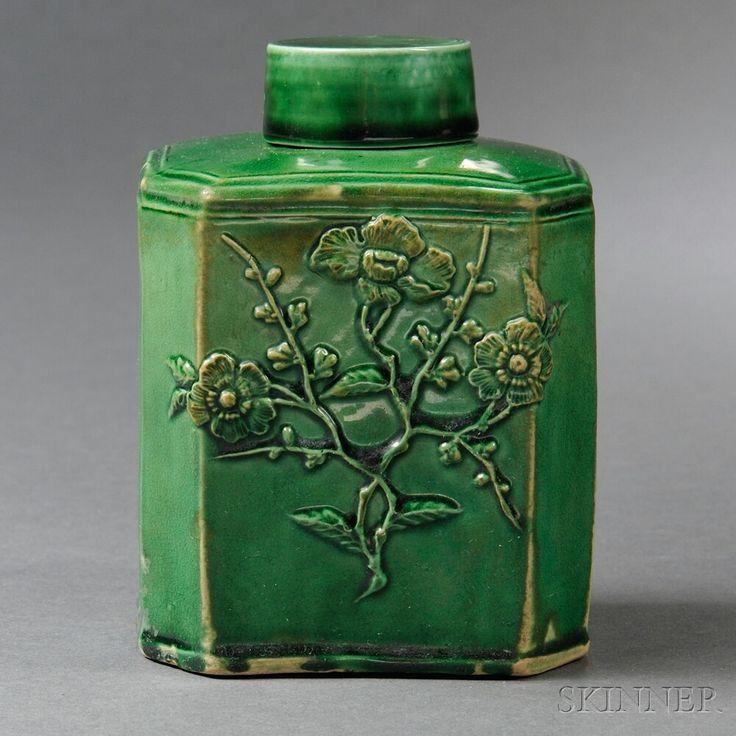Staffordshire Cream-colored Earthenware Tea Canister ~ 1765