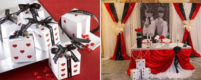 Цветовая палитра для свадьбы тематики Джеймс Бонд