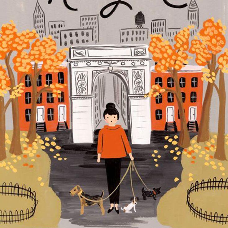 Affiche Riffle Paper Co New York | Atelier du petit parc