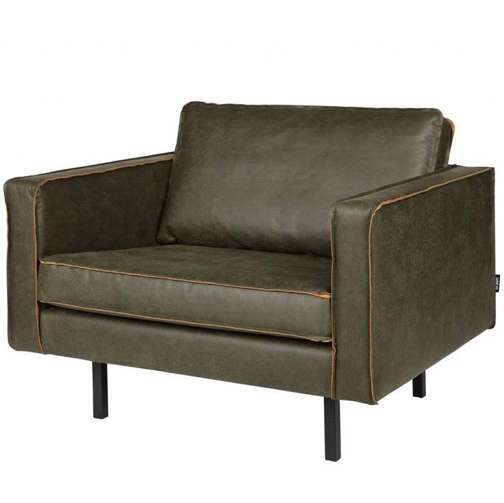 Prachtig lederen fauteuil van BePureHome. Fauteuil Rodeo heeft een moderne, luxe en eigentijdse look met los kussen. En, een tikkie eigenwijs door die zwarte, m