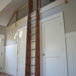 Custom Crafted Loft Ladder, Library Ladder by Historic Flooring