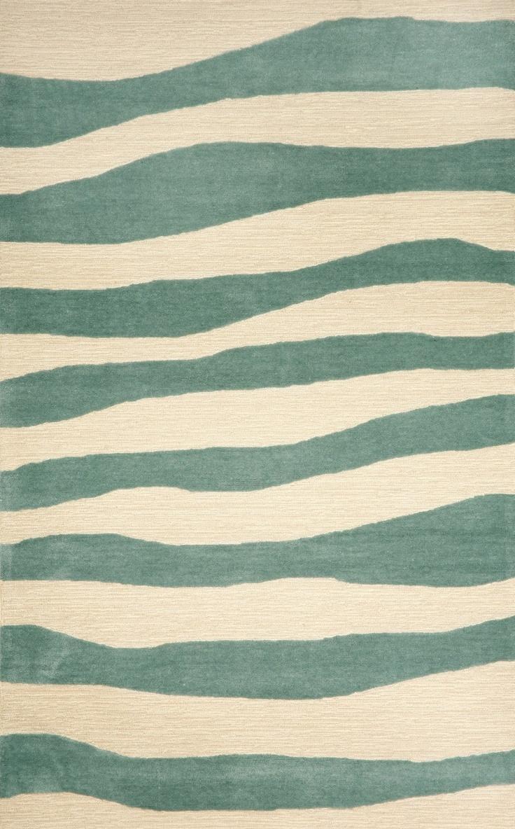 best coastal style rugs 'n mats images on pinterest  coastal  - aqua wavey stripe area rug  coastal area rugs