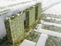 """Edifício """"Diamond Lotus"""" de Vo Trong Nghia cria áreas verdes em meio à densa cidade de Ho Chi Minh"""