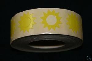 Sunburst Tanning Stickers 1000 CT Roll Sunburst Stickers,http://www.amazon.com/dp/B000GP8VX2/ref=cm_sw_r_pi_dp_t96etb1MDSTXCWAT