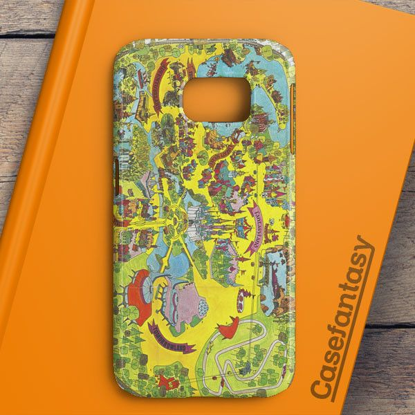 Vintage Walt Disney World Map Fantasyland 1971 Samsung Galaxy S6 Edge Plus Case | casefantasy