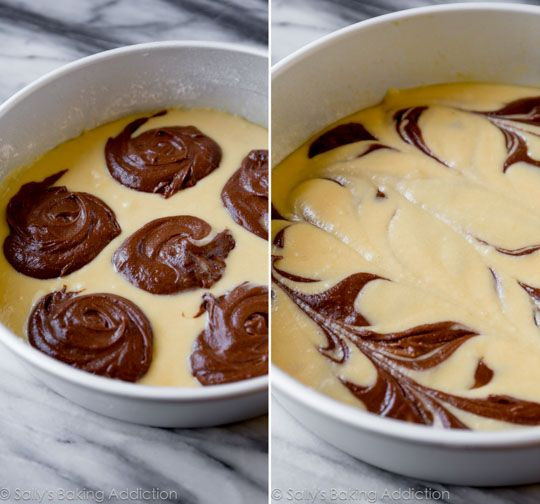How to make the best marble cake recipe on sallysbakingaddiction.com
