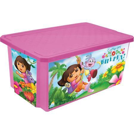 """Little Angel Ящик для хранения игрушек """"X-BOX"""" """"Даша путешественница"""" 17л, Little Angel, розовый  — 566р.  Ящик для хранения игрушек """"X-BOX"""" """"Даша путешественница"""" 17 л, Little Angel, розовый изготовлен отечественным производителем . Выполненный из высококачественного пластика, устойчивого к внешним повреждениям и изменению цвета, ящик станет не только необходимым предметом для хранения детских игрушек и принадлежностей, но и украсит детскую комнату своим ярким дизайном. По бокам ящика с…"""