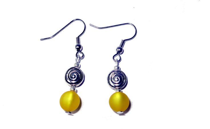 Ohrringe gelb Spirale von Charms Bine auf DaWanda.com