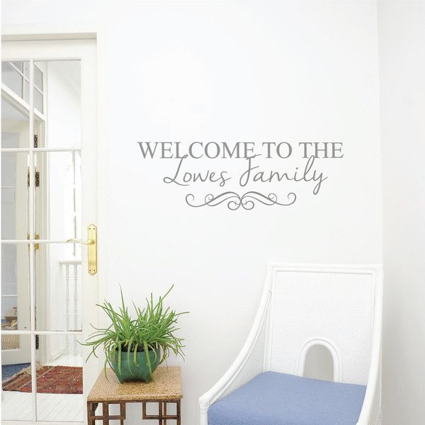 Personalised Family Name Wall Sticker
