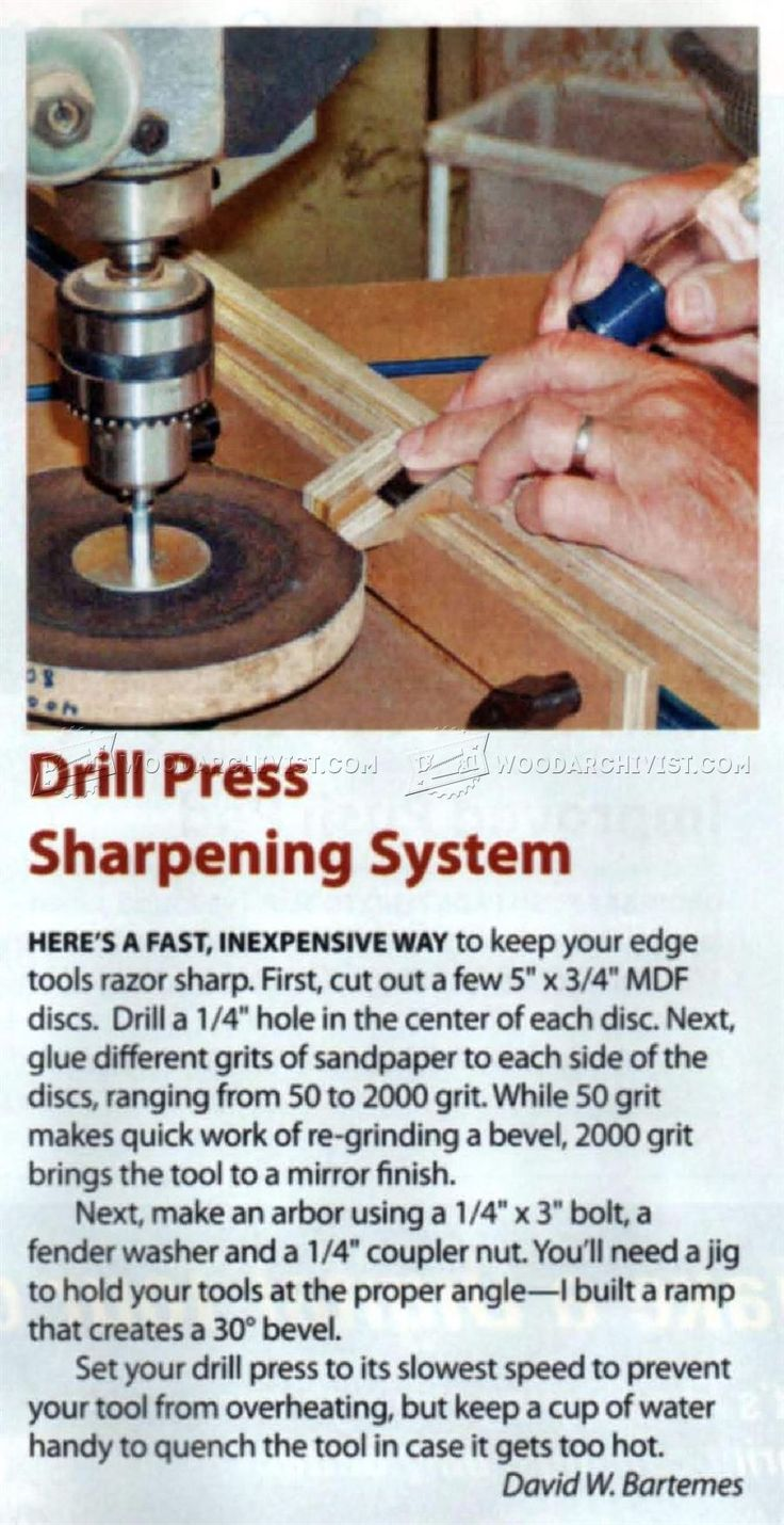 DIY Chisel Sharpening Jig - Sharpening Tips, Jigs and Techniques | WoodArchivist.com