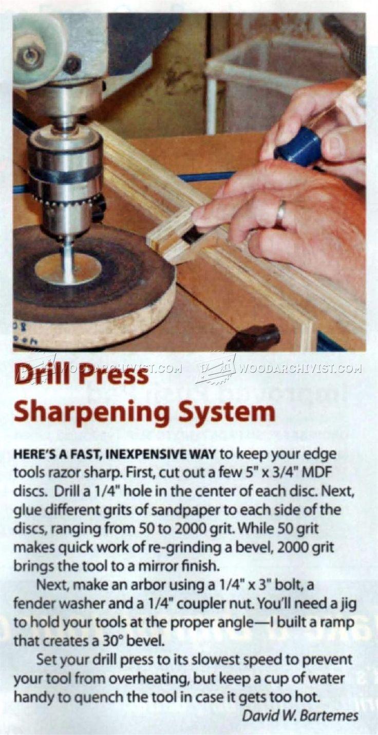 DIY Chisel Sharpening Jig - Sharpening Tips, Jigs and Techniques | WoodArchivist.com
