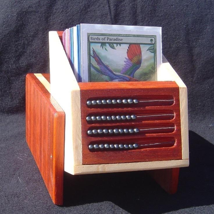 MTG Deck Box (Magic The Gathering) card game Paduak Poplar. $60.00, via Etsy.