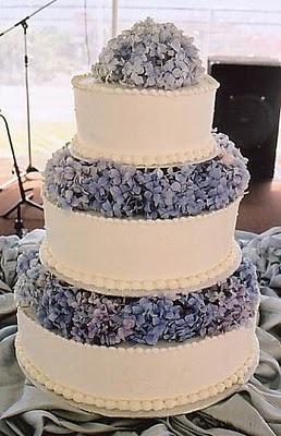 Blue hydrangea cake.