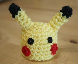 Mrs Flowerpot: The Big Knit - Pikachu Crochet Pattern