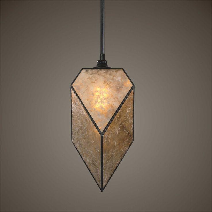 Uttermost Pelham 1 Light Antiqued Mica Pendant