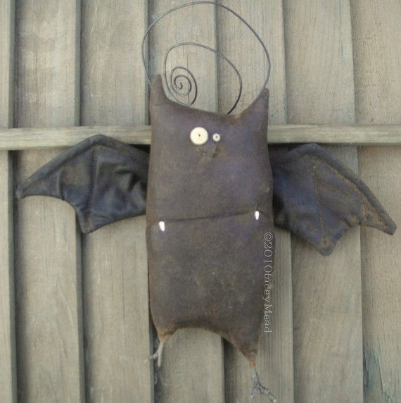 Kevin the Bat, A Primitive Pattern from Raven's Haven designed by Stacey Mead