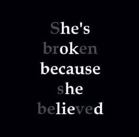 How true, i love him with all my heart still do, he never loved me or wanted me im the broken one hes moved on as always
