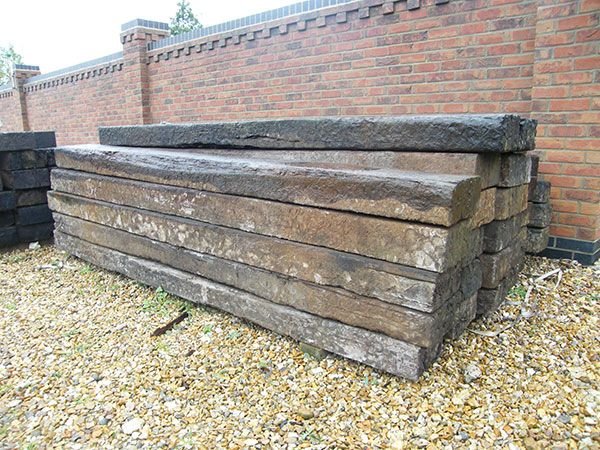 Reclaimed railway sleepers for sale from Epping Reclaim in Essex on SalvoWEB   [Salvo Code dealer