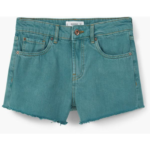 MANGO Denim Shorts ($20) ❤ liked on Polyvore featuring shorts, jean shorts, mango shorts, short jean shorts, zipper shorts and denim short shorts