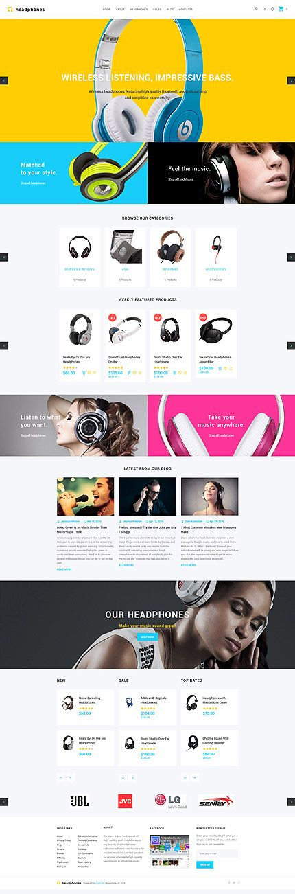 Premium Headphones Online Store #OpenCart #webtemplate #themes #business…