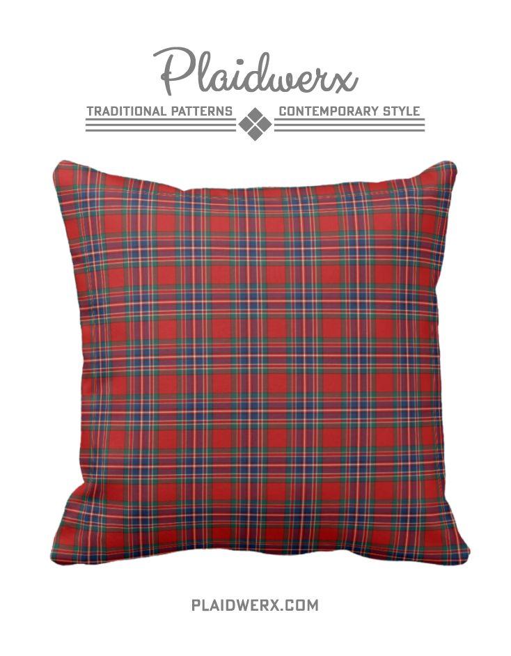 Clan MacFarlane Tartan Throw Pillow - Choose from three fabric types and three sizes. #macfarlane #tartan #plaid #scottish #pillow #throwpillow #homedecor #plaidwerx