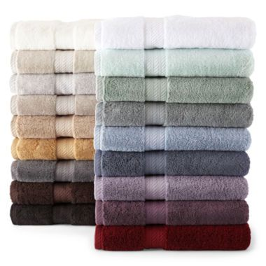 Royal Velvet Egyptian Cotton Solid Bath Towels Found At JCPenney - Supima towels for small bathroom ideas