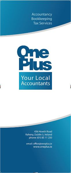 Banner Graphic Design for One Plus Accounting