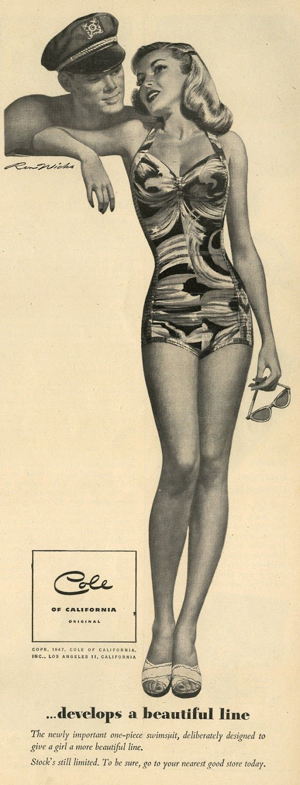 Cole of California swimsuit ad , 1950s
