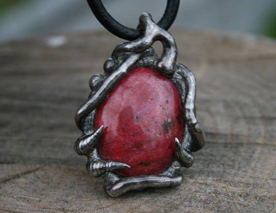 RUBY necklace gemstone NECKLACE necklace for her fantasy #rawnecklace #gemstonenecklace #forher #statement #Blacksmithworkshop