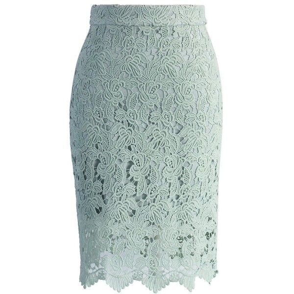 chicwish crochet of pencil skirt in mint 47 liked