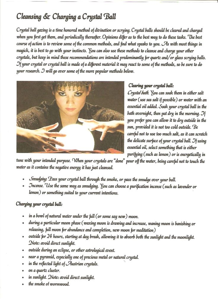 Cleansing and charging a crystal ball