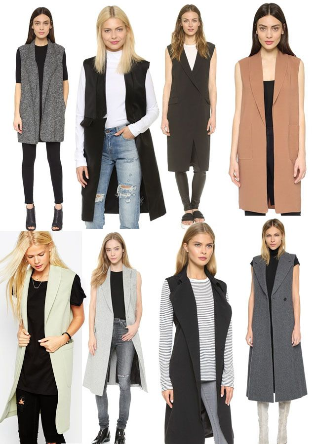 Sleeveless Long Coat
