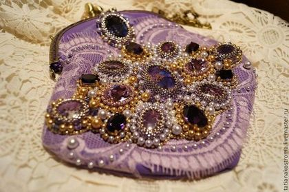 """Купить Вечерняя сумочка """"Фиолетовый закат"""" - фиолетовый, сумочка, сумочка ручной работы, сумочка вечерняя"""