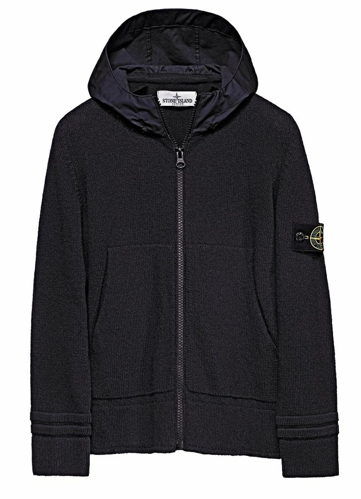 """Stone Island Junior _ Spring Summer'014  501A2 Cotton cardigan with hood in 'Mussola Gommata' / Cardigan in cotone, con cappuccio in Mussola Gommata www.stoneisland.com """