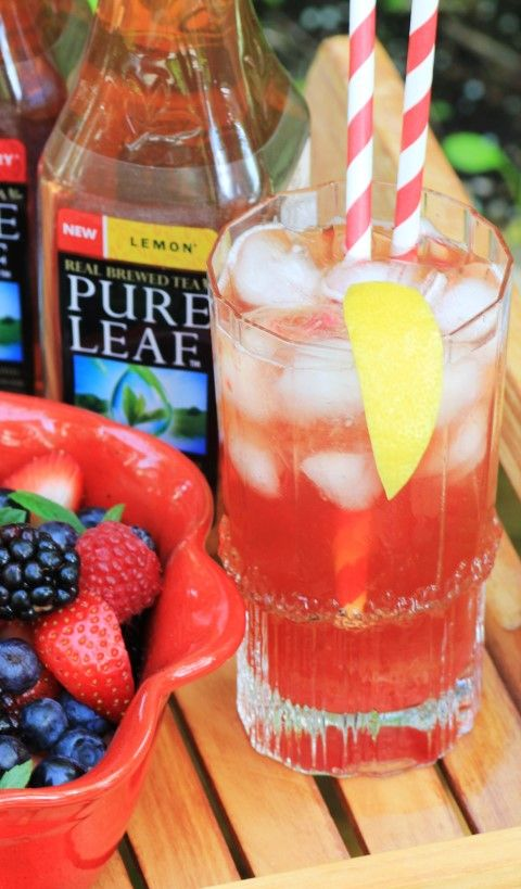 Raspberry Rhubarb Iced Tea Fizz by Noshing With The Nolands