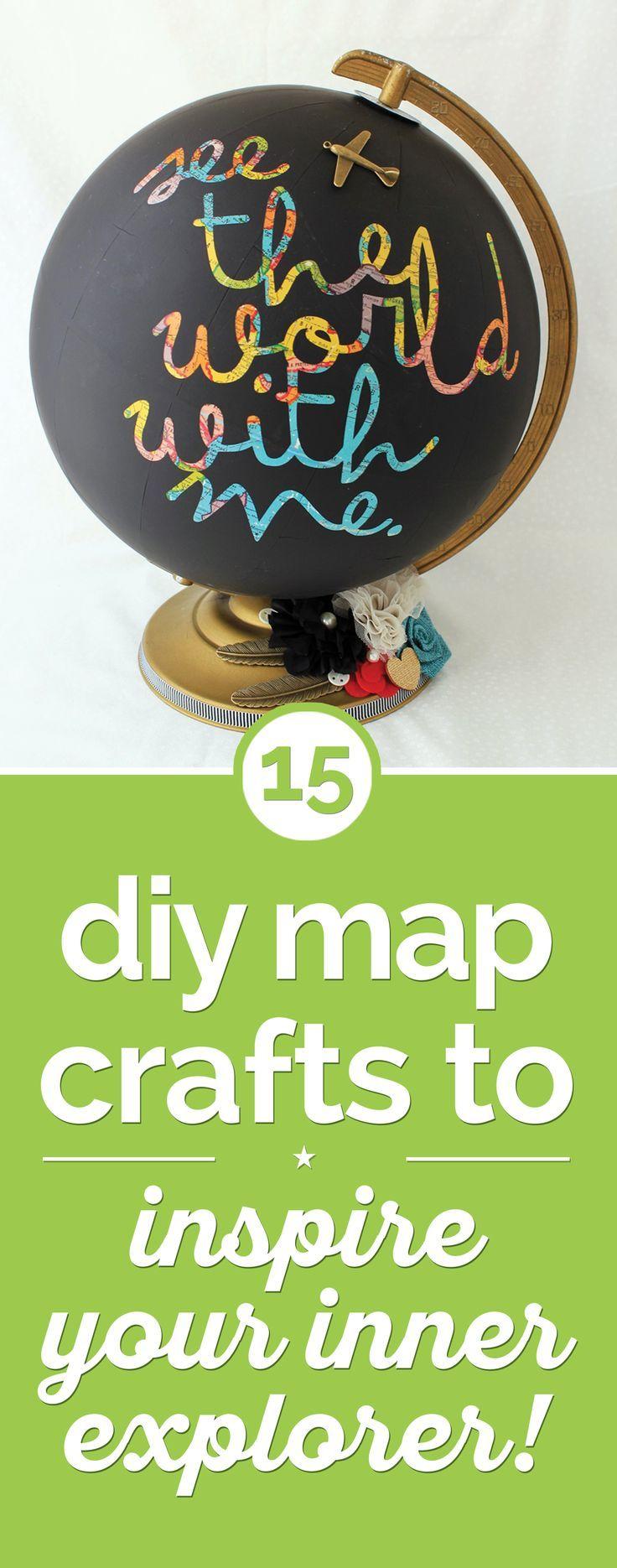 15 DIY Map Crafts to Inspire Your Inner Explorer!