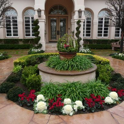 Half Circle Driveway Landscaping Ideas | 945 circle drive Los Angeles Home Design Photos