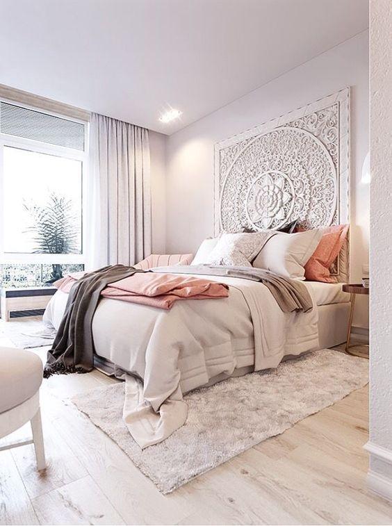 Die besten 25+ Blush pink comforter Ideen auf Pinterest - schlafzimmer einrichten 3d