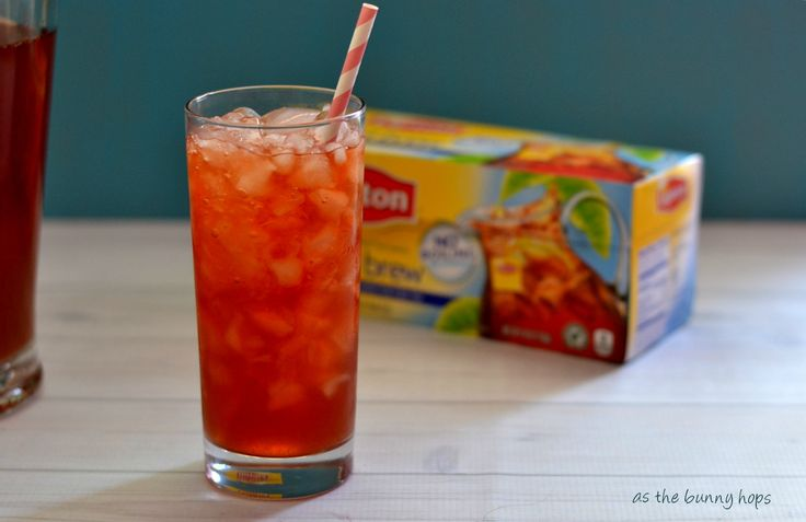 Make easy Raspberry Iced Tea in just five minutes with Lipton Fresh Brewed Ice Tea!