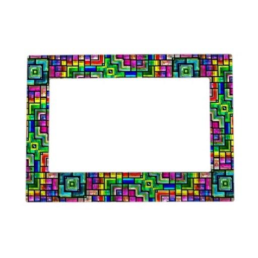 colorful mosaics Magnetic Frame