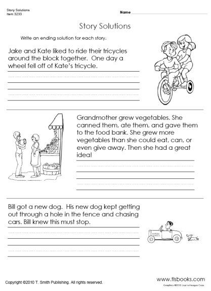 finish the story worksheet classroom worksheets pinterest. Black Bedroom Furniture Sets. Home Design Ideas
