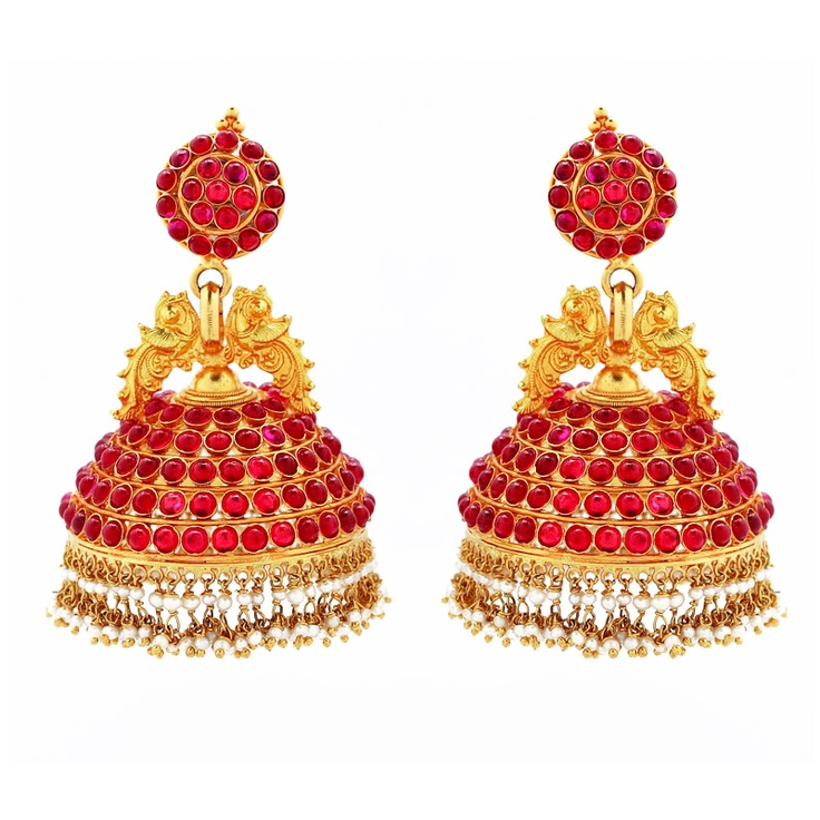 I'm in love with these jhumkas! Temple jewellery is the answer!