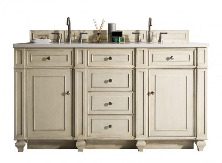 60 inch Antique Double Sink Bathroom Vanity Vintage Vanilla Finish - 100 Best Luxury Bathroom Vanities Images On Pinterest Luxury