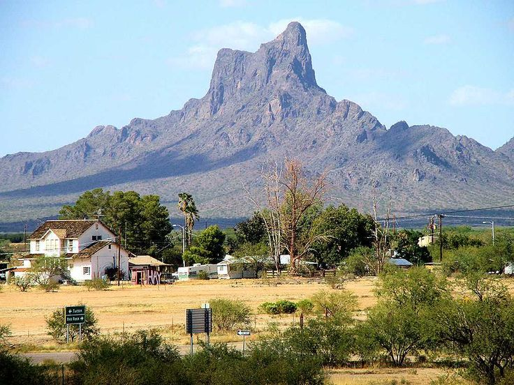 Picacho Peak - heading south towards Tucson from Phoenix, Arizona.