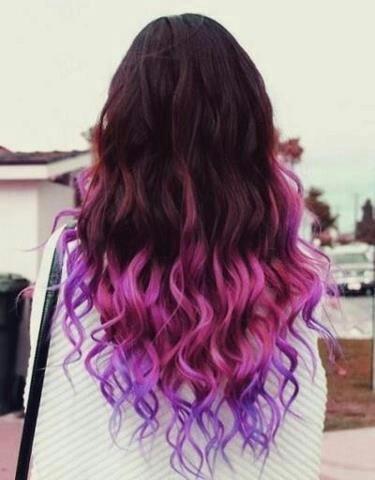 Tip dyed hair