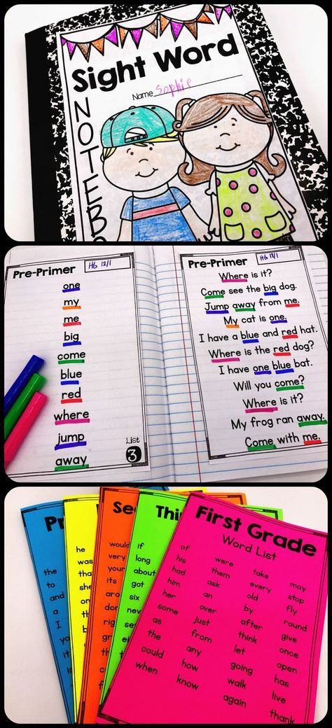 Are you a kindergarten or first grade teacher struggling to find activities to manage sight word instruction? This interactive sight word notebook is the perfect classroom idea for teaching reading and managing sight words. Students read words and passages multiple times daily. They master a level and move to the next! This bundle includes the pre-primer to third grade Dolch word list. (The sight word printables can be used in a notebook or used to make mini-books.)