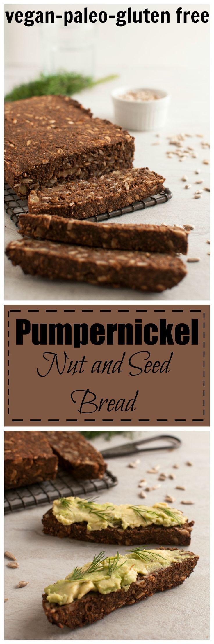 Pumpernickle Nut and Seed Bread #vegan #paleo #glutenfree