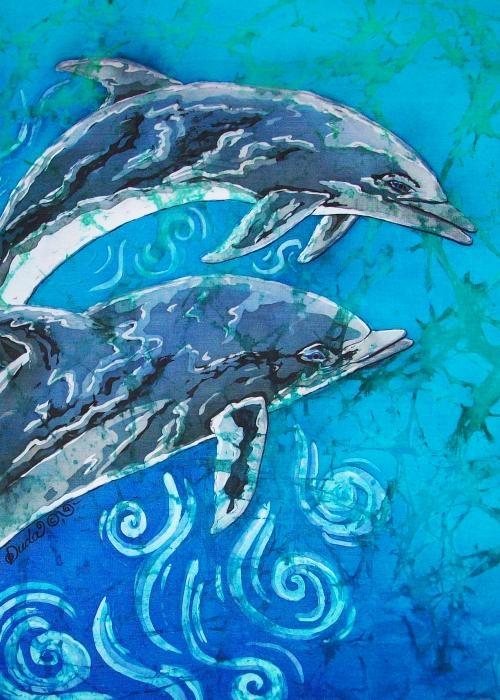 фото батик дельфины руках носить меня