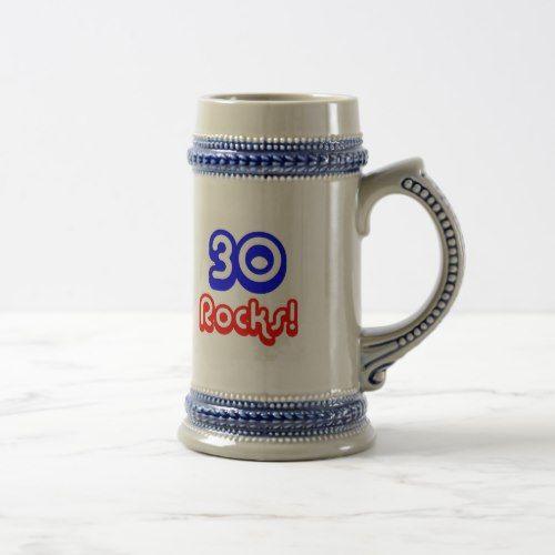 30 Rocks Birthday Beer Stein